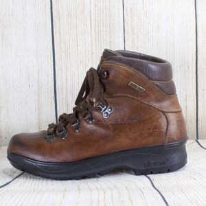 LL Bean Cresta Brown Leather Hiking Boots Size 7.5